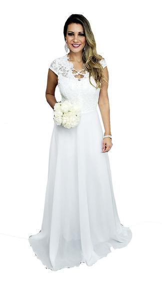 Vestido De Noiva Barato Casamento Cartorio Civil Praia Campo