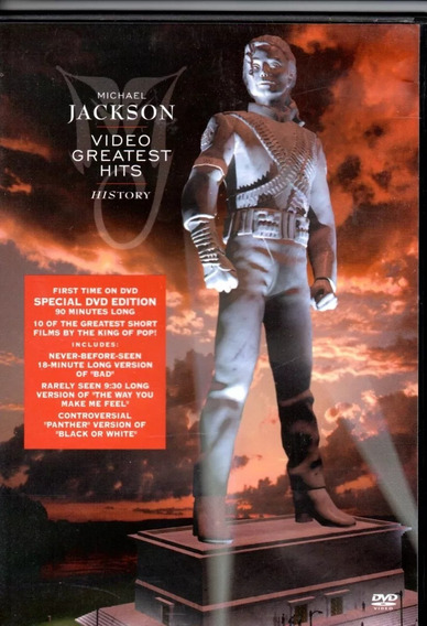 Dvd Michael Jackson - Video Greatest Hits History