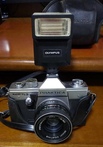 Camera Praktica Com Flash Olympus