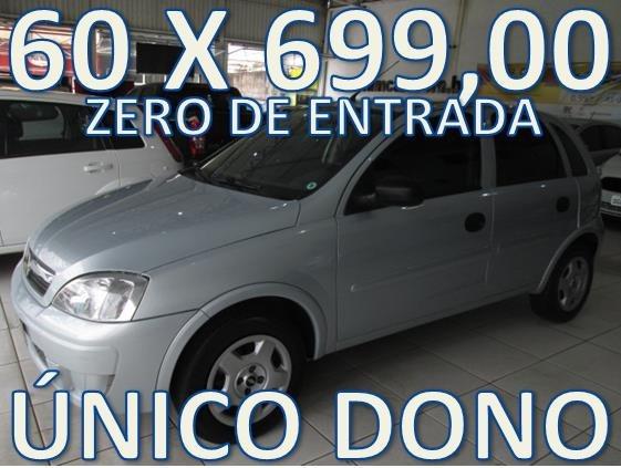 Chevrolet Corsa 1.4 Maxx Zero De Entrada + 60 X 699,00 Fixas
