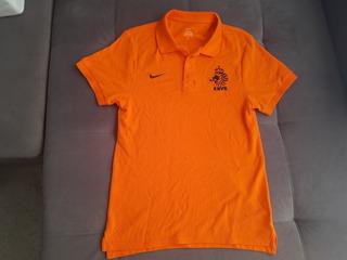 Camisa Polo Oficial Nike Da Seleção Da Holanda De Futebol