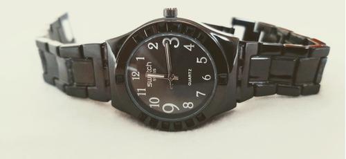 Relógio Feminino Quartz Análogo Metal Preto 2035 Movt Quartz