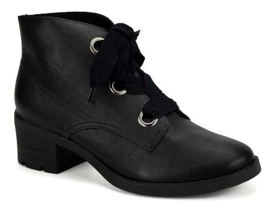 Bota Ankle Boot Coturno Feminino Via Marte 19-5501