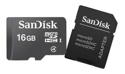 Cartão De Memória Micro Sd 16gb Sandisk Com Adaptador