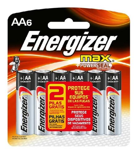Pilha Energizer Max Aa Pequena 1,5v Cartela 6 Unidade Dura +
