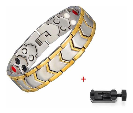Pulseira Magnética Energética Bracelete Titânio Cod. 116
