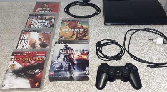 Ps3 Playstation 3 Super Slim - 17 Jogos - R$ 700,00