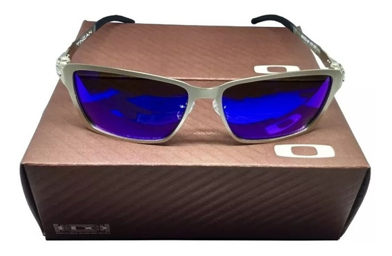 Óculos De Sol Tincan Prata Azul Metal Pronta Entrega Oferta