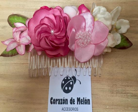 Peineta Tocado Flores