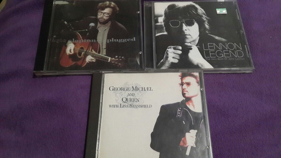 Lote De 3cds Eric Clapton John Lennon George Michael