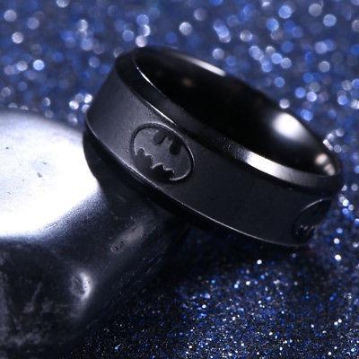 Anillo Batman Negro De Titanio Oscuro