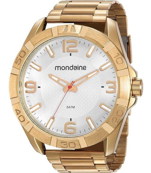 Relógio Mondaine Masculino Dourado Original Barato