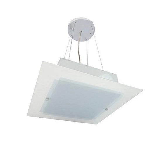 Lustre Contemporâneo De Teto Prisma G Alumínio E Vidro