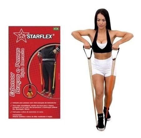 Extensor Braços E Pernas Tripla Borracha Starflex