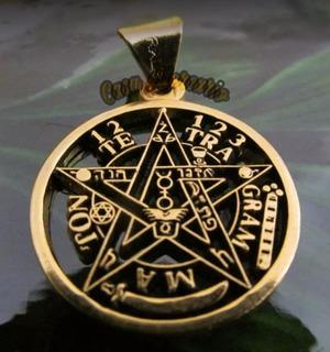 Tetragramaton Chapa De Oro Talisman De Magos