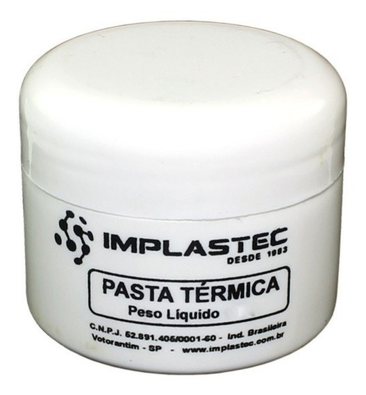 Pasta Térmica Para Processador 100 Gramas Implastec