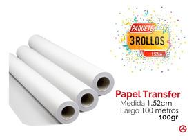 Paquete 3 Rollos Para Sublimación 1.52cm