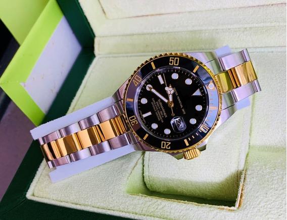 Reloj Para Caballero Submariner Automatico Bicolor C/ Caja