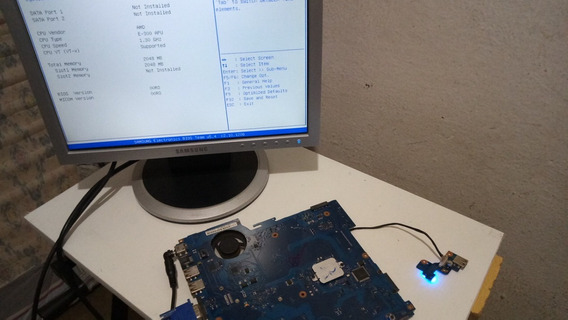 Placa Mãe Samsung Rv415 Defeito Circuito Lvds