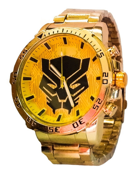Relógio Barato Masculino Dourado Kid/geek