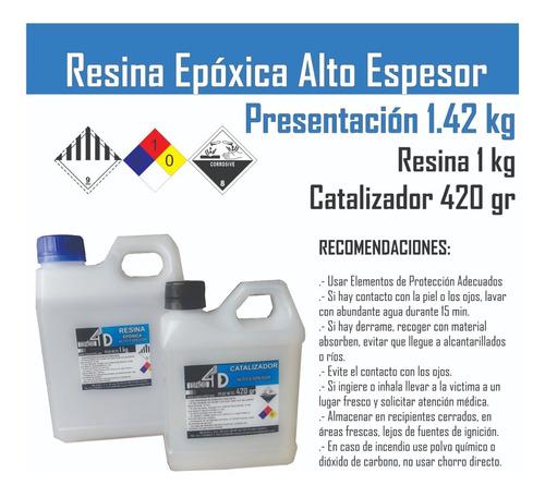 Imagen 1 de 1 de Resina Epoxica Alto Espesor 5cm P/encapsulados / Espacio 4d