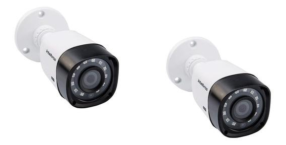 Kit Com 2 Câmeras Intelbras Vhd 1220b G4 Hdcvi Full Hd 1080p Modelo Bullet Com Infra De 20 Metros