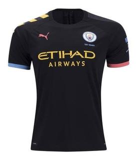 Camisa Manchester City 19/20 Unif. 2 - Pronta Entrega