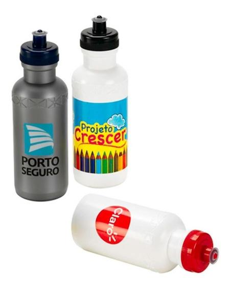 100 Squeezes De Plastico 500 Ml Personalizado Em Silk 1 Cor