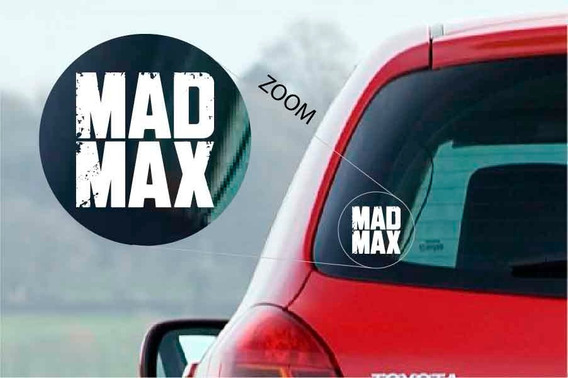 Mad Max Logo Calco Vinilo Sticker Deco