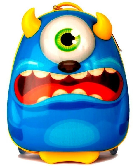 Mochila Funny Land Blue Monster Con Carro