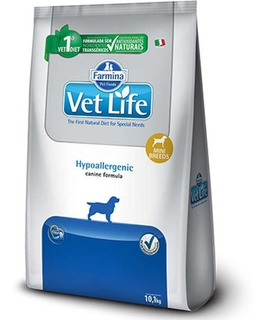 Ração Vet Life Natural Hypoallergenic Cães Mini 10kg Pett
