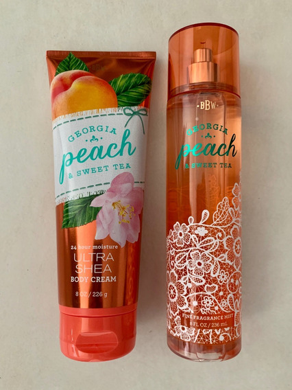 Georgia Peach Sweet Tea Kit Creme Colonia Bbw 100% Original