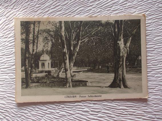 8220- Postal Antigua Cordoba, Paseo Sobremonte 1942 F. S.
