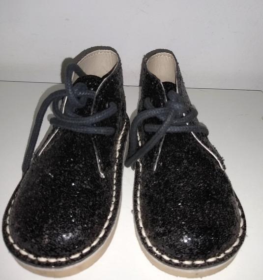 Botitas Negras Con Brillo Glitter Grisino Talle 22