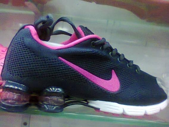 Tenis Nike Shox Zoom Azul E Rosa Nº38 Original + Brinde