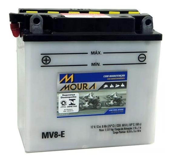 Bateria Moto Mv8-e Moura 8ah Suzuki Gsr Gt500 Titan Intruder