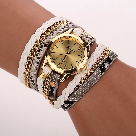 Relógio Feminino Pulseira Quartzo Várias Cores Lindo Luxo