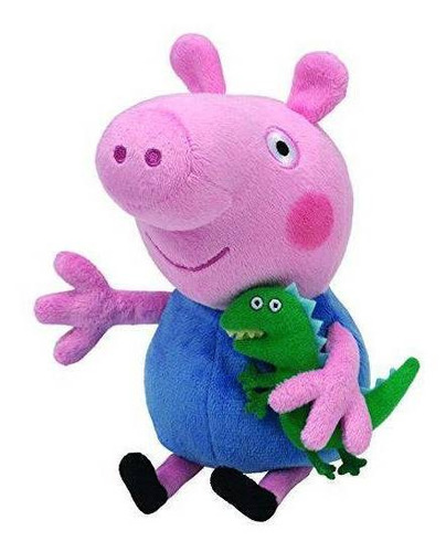 Imagem 1 de 3 de Peppa Pig Pelúcia P 20cm  George Pig  Dtc