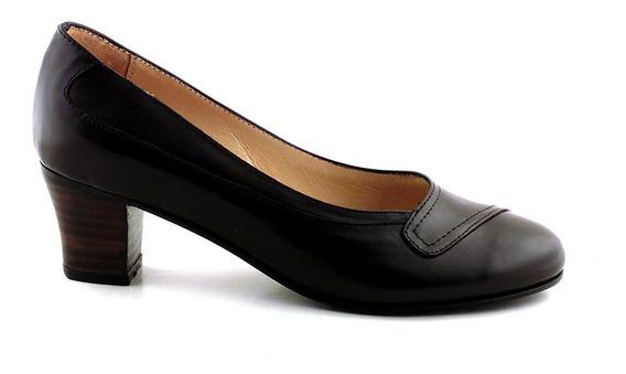 Zapato Mujer Cuero Briganti Taco Vestir Clasico - Mccz03400