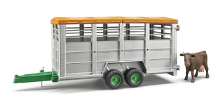 Juguetes Bruder Livestock Trailer With 1 Cow