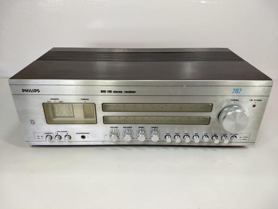 Receiver Philips 787 Am Fm Stereo Retro Vintage Radio Antigo