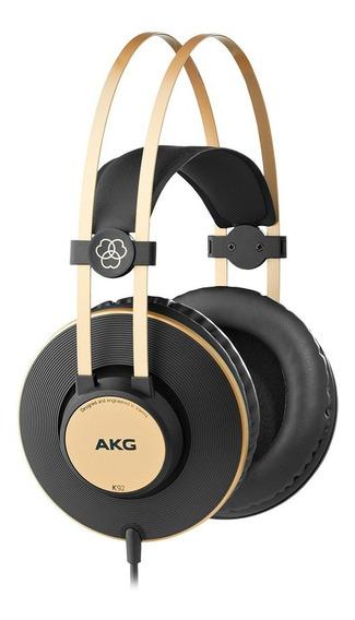 Fone De Ouvido Akg K92 Headphone Profissional Preto Original