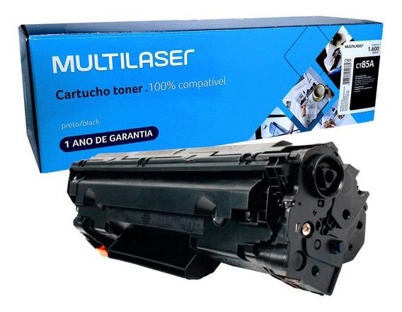 Toner Ct85a Multilaser P1210 1130 1217 1109w Compatível Hp
