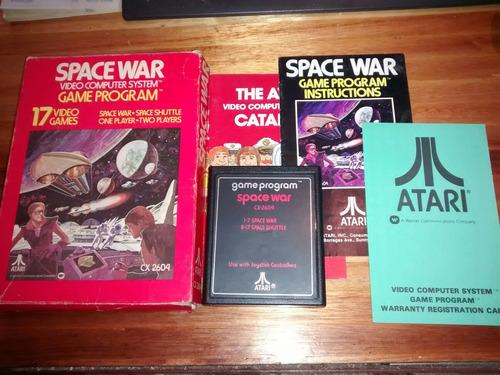 Cartucho Juego Game Program Atari 2600 Cx2604 Space War