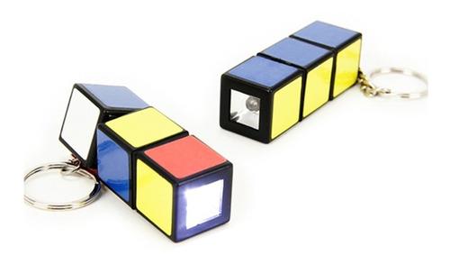 Mini Linterna Led Llavero Tipo Rubik Cubo Magico
