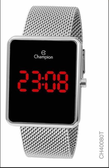 Relógio Champion Led Digital Lançamento Prata
