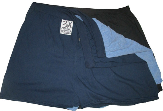 Calzones Boxer Azul Y Negro Talla 3x Hanes
