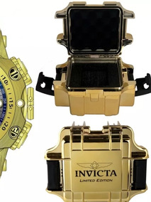 Relógio Invicta Reserve Venom 16805 Hybrid Banhado A Ouro 18