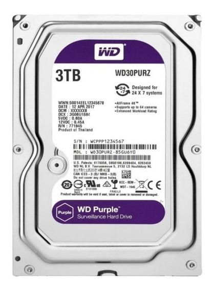 Hd 3 Tera Purple Segurança Intelbras Wd Cftv Dvr Wd30purz Tf