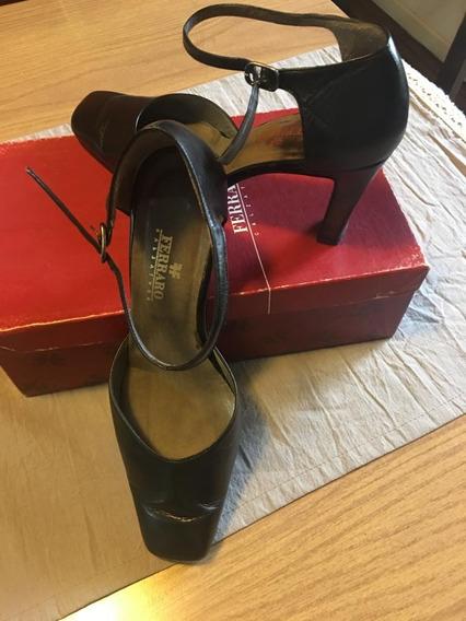 Zapatos Tipo Tangueros De Cuero Ferraro N° 37